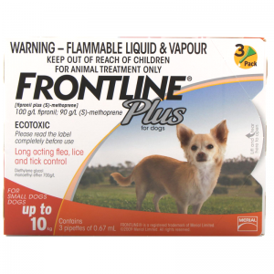 Frontline Plus for Dog Flea Treatment 3 pack (1-10kg) - 3 Stone Vets